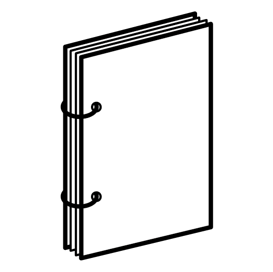 Брошюры на кольцах, блок до 70 листов