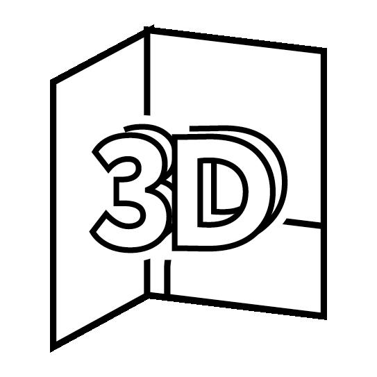 Папки А4 с приклейным клапаном и 3D-отделкой