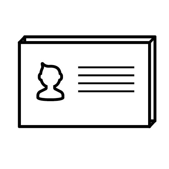 Визитные карточки трехслойные