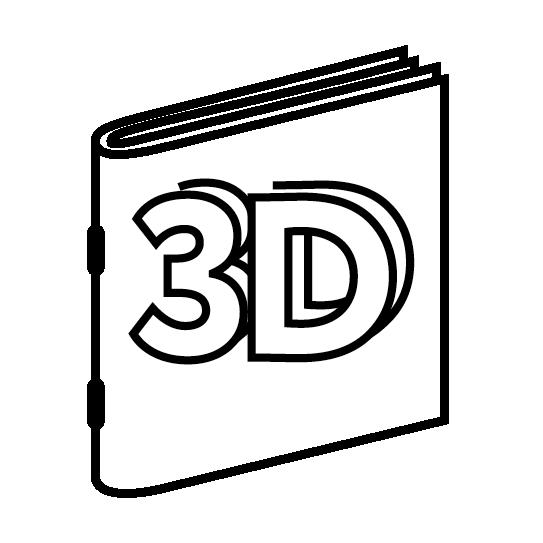 Брошюры на скобе с 3D-отделкой обложки
