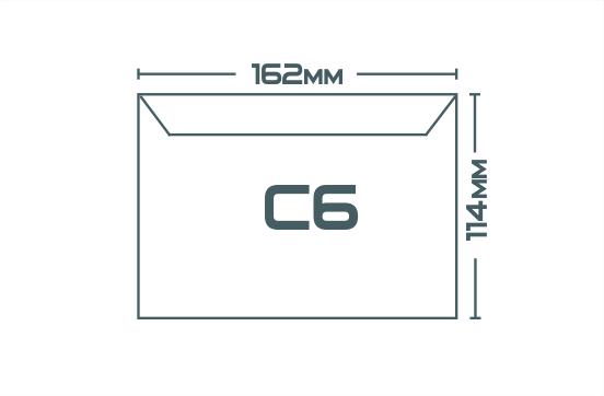 Конверты С6 (162 х 114 мм)